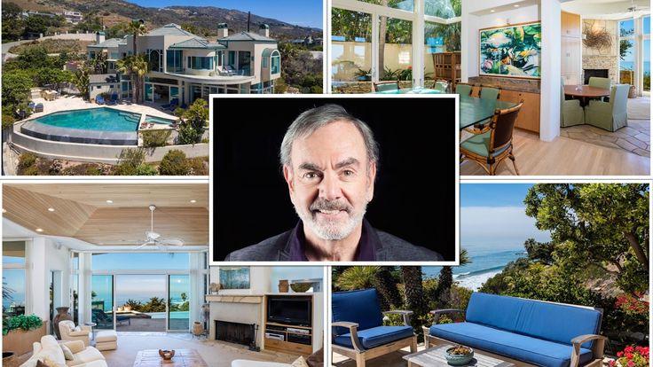 beach house living room designs pictures of color ideas neil diamond's awesome malibu | diamond ...
