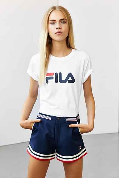 ↠ᴘɪɴ: @coeurdepasteque ↞ FILA + UO Settanta Short - Urban Outfitters