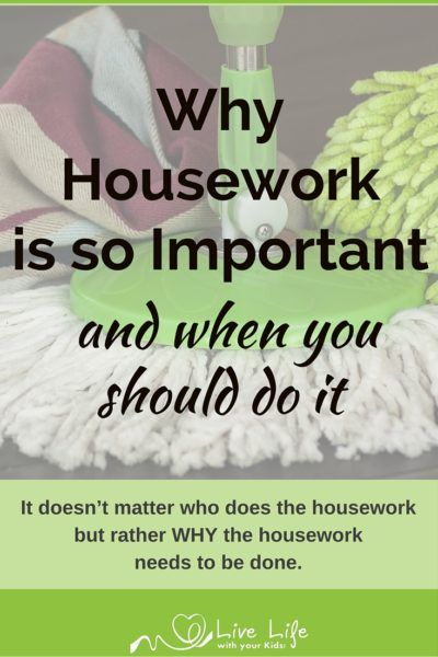 Housework often feels like a thankless task but when we know why it is important we change our motivation and heart.
