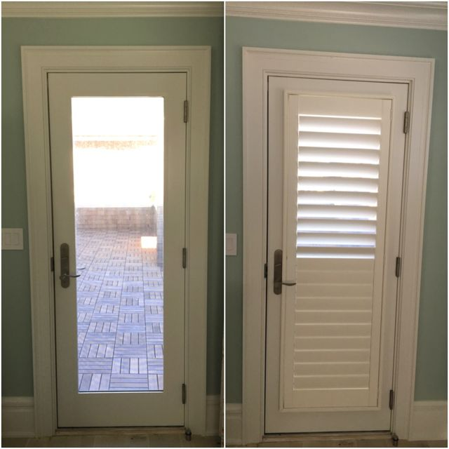 ASAP Blinds | Before \u0026 after photos of white plantation shutters with hidden tilt bar ( & 32 best Options for Doors and Sliders images on Pinterest ...