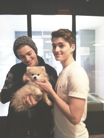 jack and finn + puppy= i can't