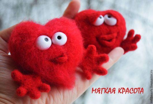 Подарки для влюбленных ручной работы. Заказать Подарок на 14 февраля игрушка войлочная