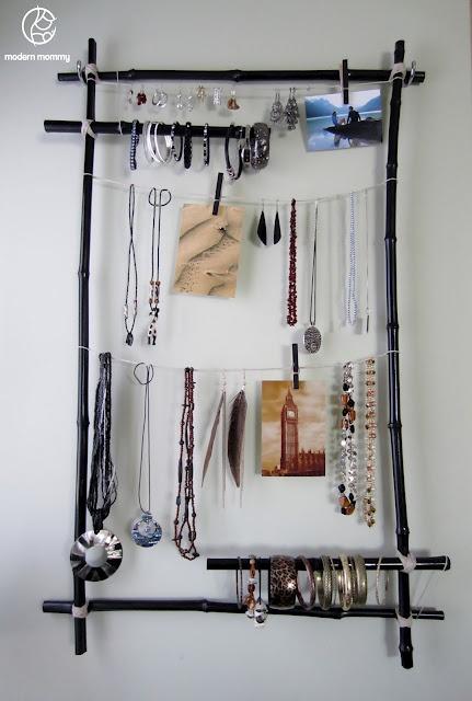 Bamboo Frame Jewellery Display