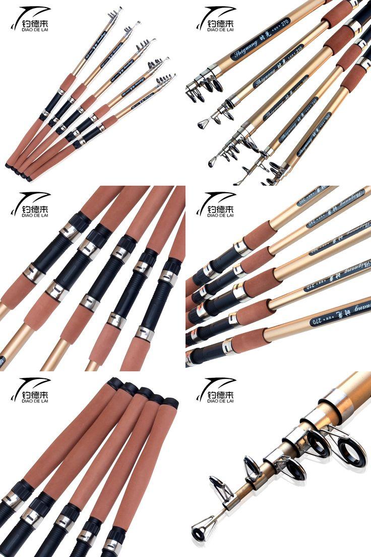 [Visit to Buy] Telescopic Fishing Rod Carbon Fiber Carp Feeder Rod Surf Casting Rod Rock High-density Carbon Spinning Fishing Pole Ultra Light #Advertisement