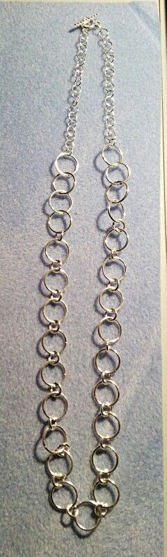 My own chain made with jump rings...