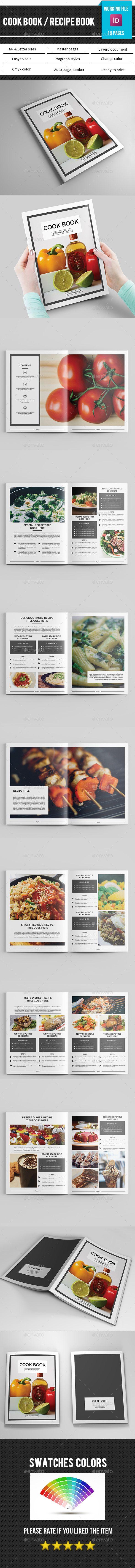 Cook Book/Recipe Book Template InDesign INDD. Download here: http://graphicriver.net/item/cook-bookrecipe-book-template/16130411?ref=ksioks