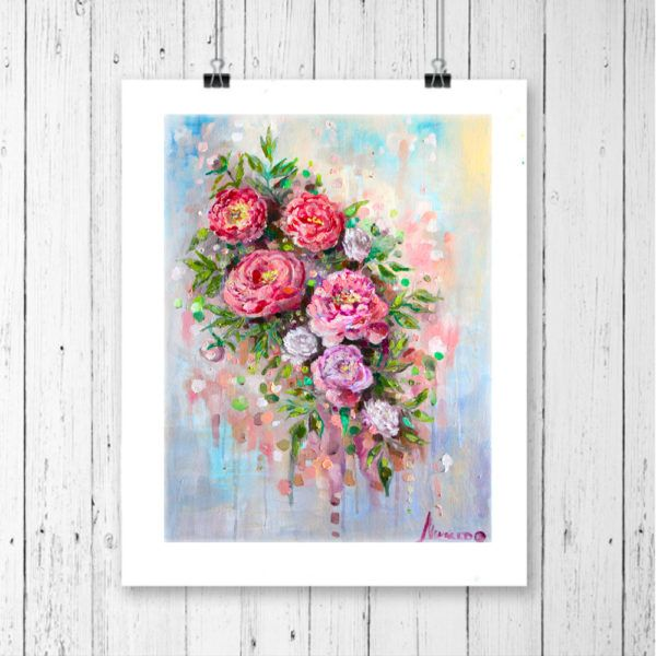 Pink floral art. Some vintage looking stuff anyone?