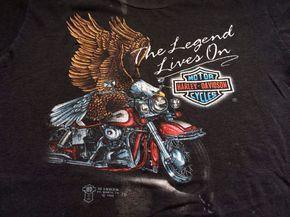 Vintage HARLEY DAVIDSON 3D Emblem Tshirt 1988/ by sweetVTGtshirt, $65.00
