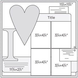 Scrapbook Page Sketch 316