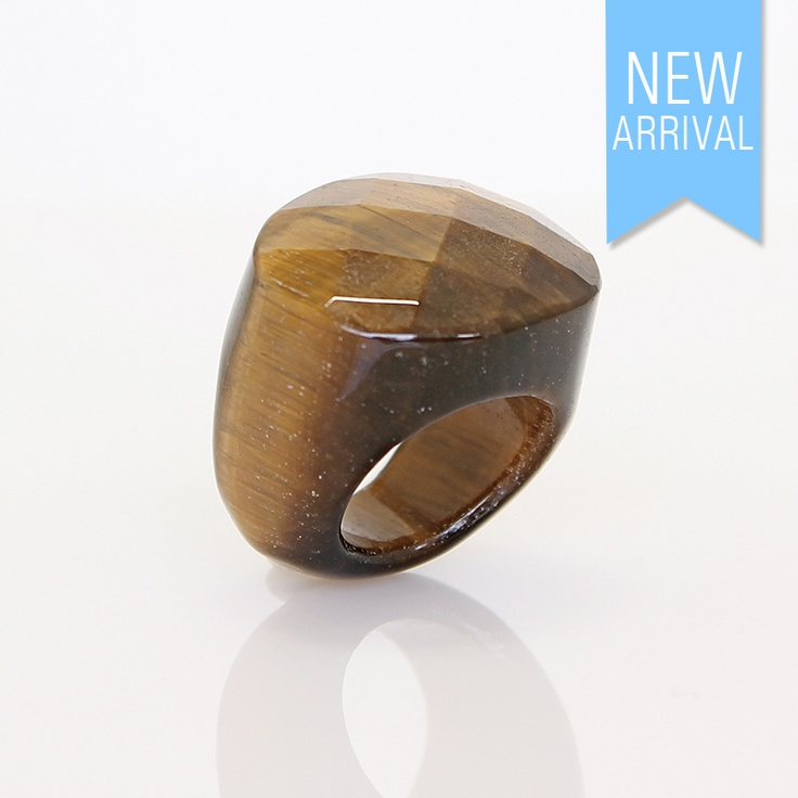 Ring Solid Tiger Eye #Ring #NewArrivals #GinaAdornments