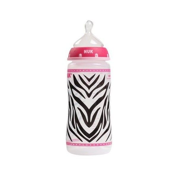 1 Nuk Animal Print Zebra Girl 10 oz Baby Bottle Girl Orthodontic... ($7.99) ❤ liked on Polyvore featuring baby, baby stuff, bottles, baby bottles and baby clothes