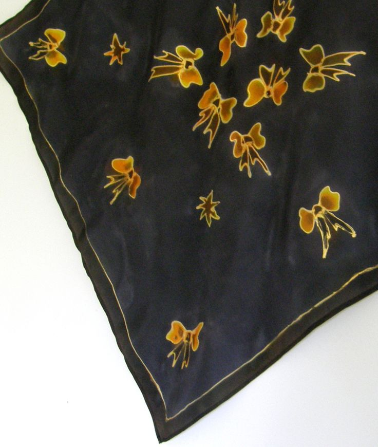 This Satherley Silks Handpainted silk Neckerchief could be yours. Go to www.felt.co.nz  and add a comment to the featured seller to go in the draw to win.