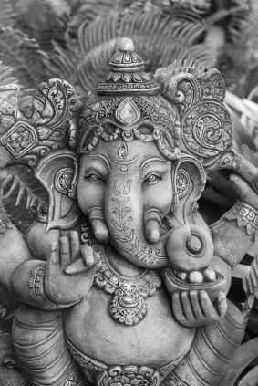 Ganesh. Love this little guy. Want a statue. A big one. For the garden.