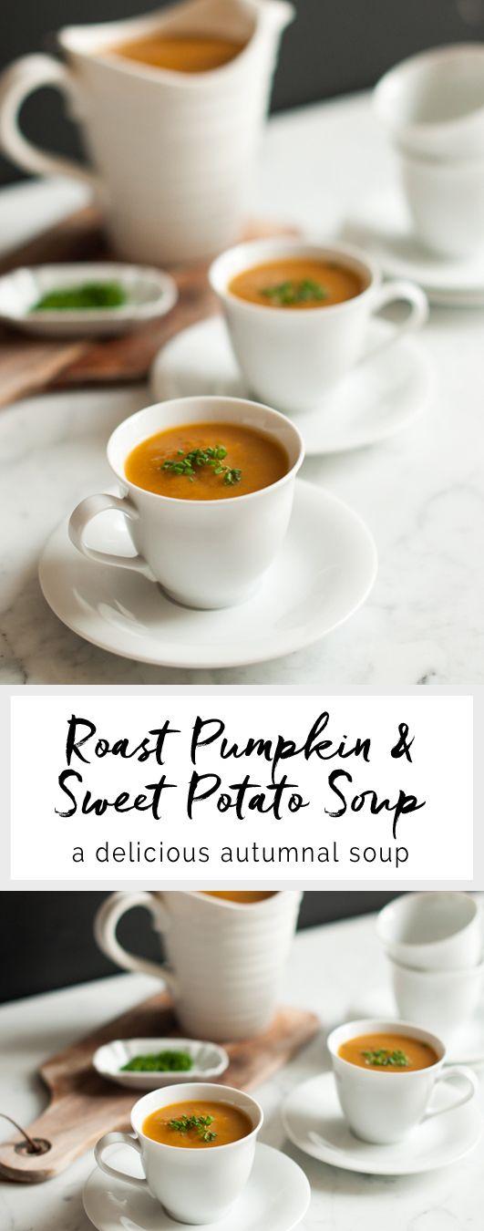 Roast Pumpkin & Sweet Potato Soup | eatlittlebird.com