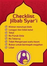 Checklist Jilbab Syar'i Yuuukks :)