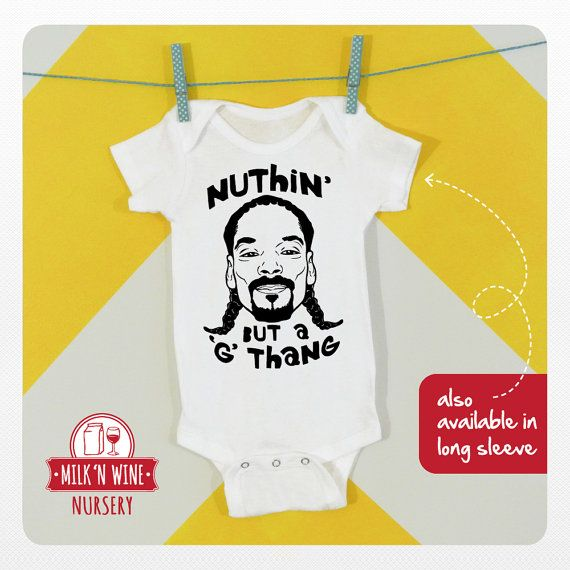 Snoop Dogg Nuthin But a G Thang Baby One piece by Milknwinenursery