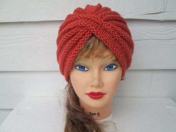 Knit Turban Turban hat hand knitted womens winter by Ritaknitsall, $40.00