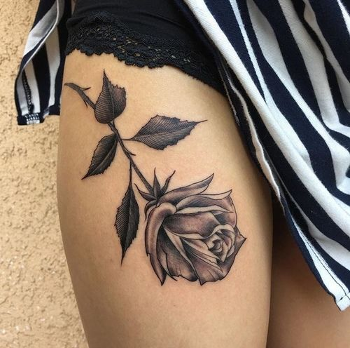 Best 20 rose tattoo thigh ideas on pinterest thigh for Tattoo rose on thigh