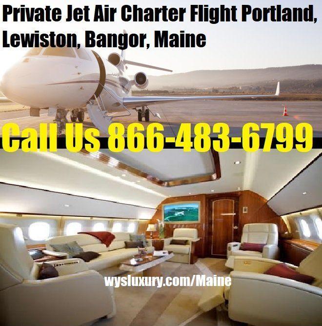 Private Jet Air Charter Flight Portland, Lewiston, ME Plane Rental #wysseoagency #privatejet