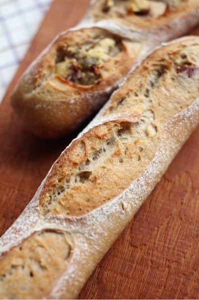 10月自家製酵母パン講座のマロンフィセル、ってこんなパンです。 by ...