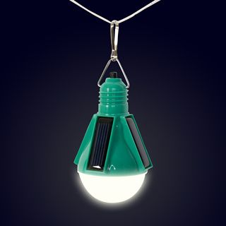Nokero solar light bulb....great for camping! added bonus is it looks like a space capsule!
