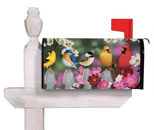 Birds on a Picket Fence Magnetic Mailbox Cover