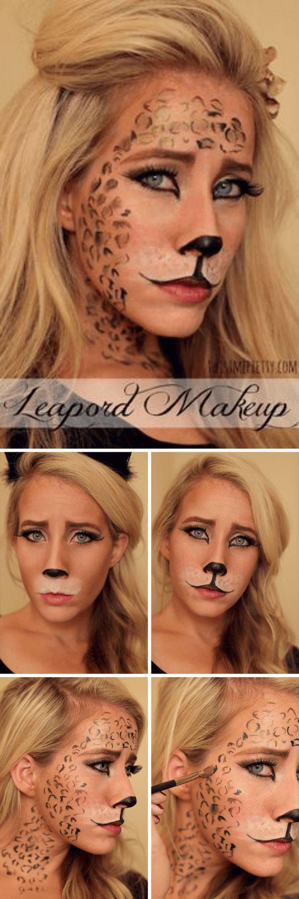 Leoparden Gesicht, Sexy Makeup für Halloween