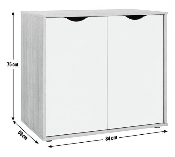 Buy HOME Berkeley Storage Cupboard - White and Oak Effect at Argos.co.uk - Your Online Shop for Filing cabinets and office storage, Office furniture, Home and garden.