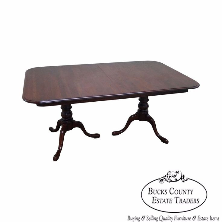 Ethan Allen Georgian Court Solid Cherry Dining Table #Traditional