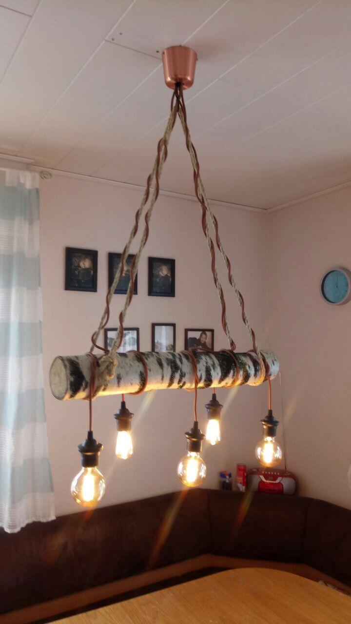 DIY HolzstammLampe Wohnzimmerlampe, Altholz
