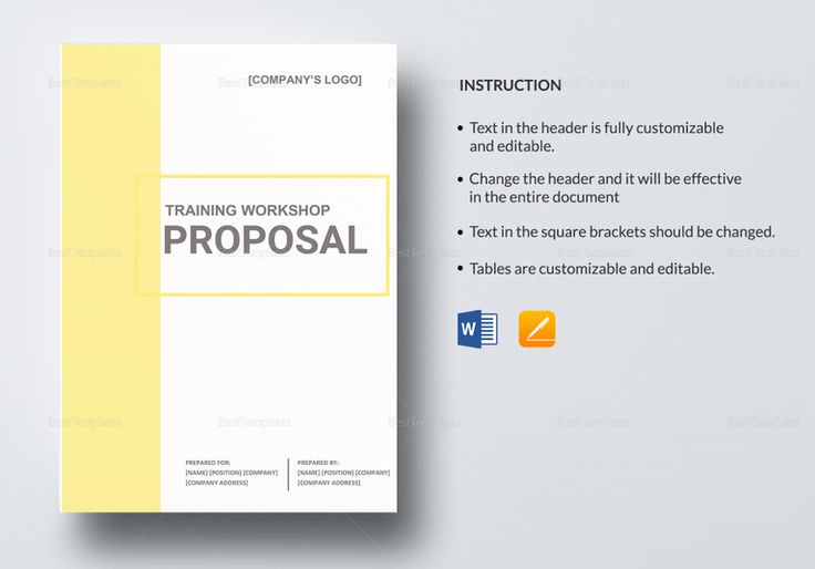 Training Workshop Proposal Template Proposal Document Design - training proposal template