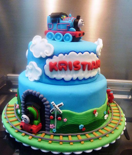 thomas the train cake   Flickr - Photo Sharing!