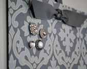 Fabric Magnet Board, just cover a flat cookie sheet with cloth