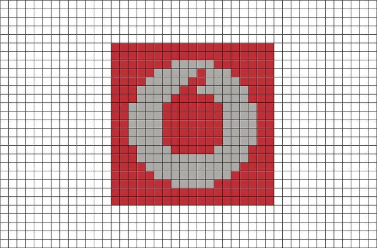 Vodafone Group from BrikBook.com #VodafoneGroup #Logo #Telecom #pixel #pixelart #8bit Shop more designs at http://www.brikbook.com
