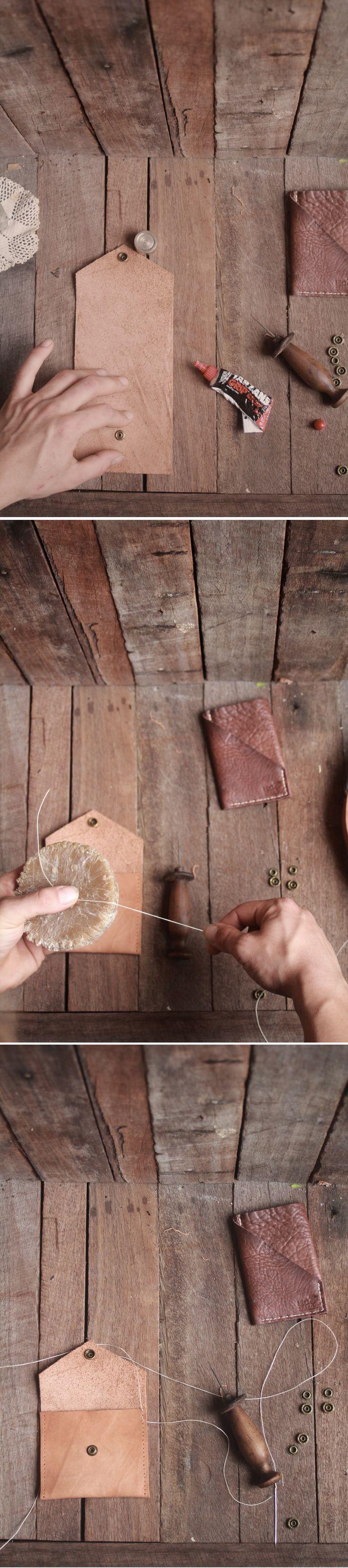 Handmade leather pouch wallet. #leatherwork  $29.95 leoandspargo.etsy.com