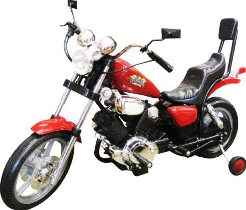 Electric Kids Ride On Toys Motorcycle Power Wheels - (Assorted Colors Blue/Black/Red. Sent at random) by pw in. $195.00. Kids Ride on Motorcycle Power Wheel 6V  Motorcycle / Chopper Look What's in The Box    Ride on Motorcycle    Free Training Wheel    Manuel & Charger Included    Assembly Required  Specifications:  Brand New Kids Ride on Toy Electric Motorcycle / Chopper.  Perfect for kids 2-7 years old, holds up to 90 Pounds Weight.  Motorcycle has headlights and horn....