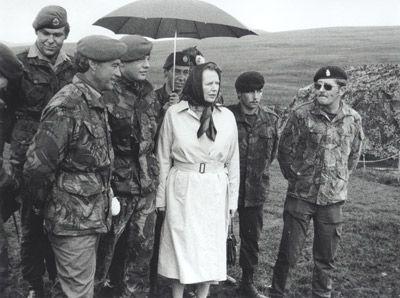 Margaret Thacher in Falkland islands.