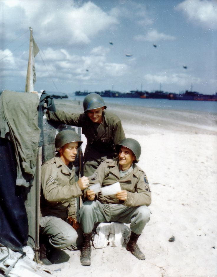 d day landings in color