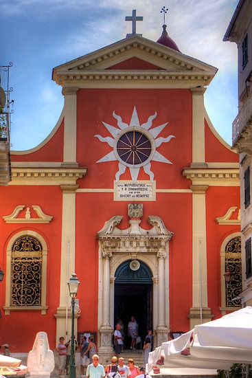 Corfu's Orthodox Cathedral of Madonna of the Grotto. Built in 16th C it became a cathedral in 1841. Corfu Island, Greece - Corfu Island / by Tom Gomez