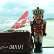 The Nutcracker is on the way to Sydney with his vintage Qantas bag!