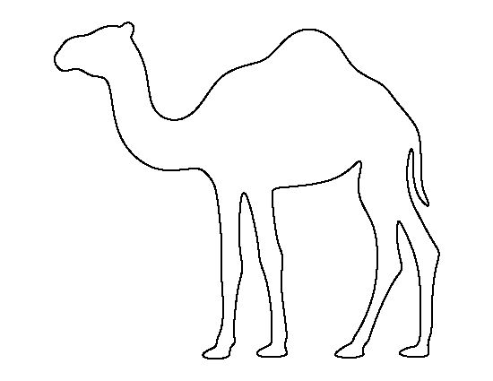Camel pattern. Use the printable outline for crafts, creating stencils, scrapbooking, and more. Free PDF template to download and print at http://patternuniverse.com/download/camel-pattern/
