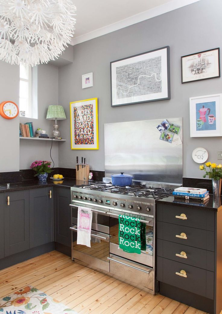 1000 ideas about painting laminate floors on pinterest for Pink and black kitchen ideas