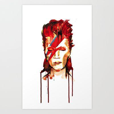David Bowie / Ziggy Stardust Art Print by Stephane Lauzon - $15.00