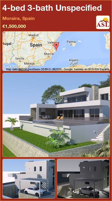 4-bed 3-bath Unspecified in Moraira, Spain ►€1,500,000 #PropertyForSaleInSpain