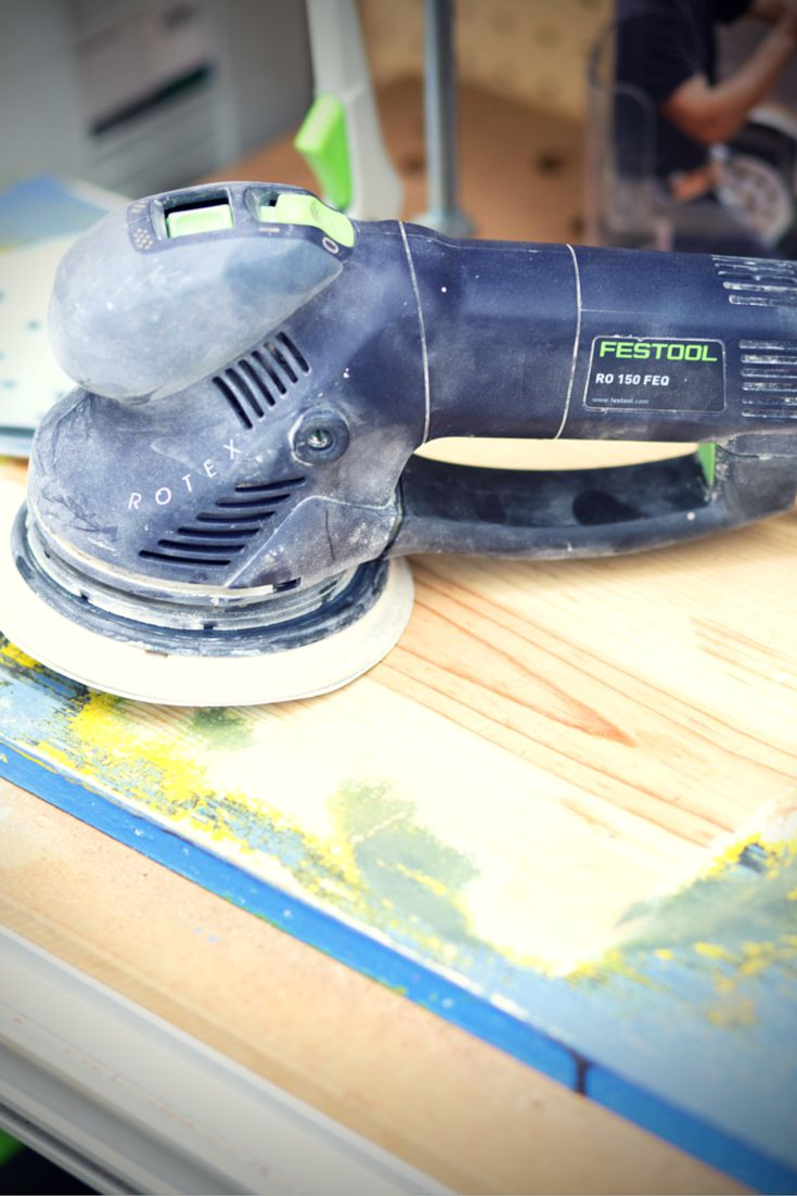 This Festool Multi-Mode Sander works on just about any wood surfaces. It can even take off old fading paint like a champ. Festool Rotext RO 150 Multi-Mode Sander (#571810) :: Devine Paint Center Inc