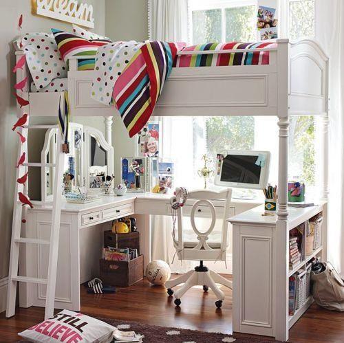 M s de 25 ideas fant sticas sobre camas altas en pinterest - Como decorar una habitacion pequena juvenil ...