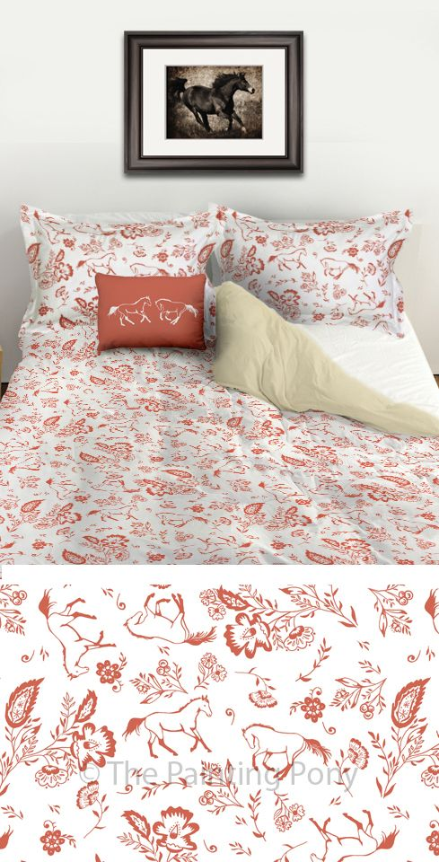 Whimsical And Chic Equestrian Duvet Bedding Set Stylish