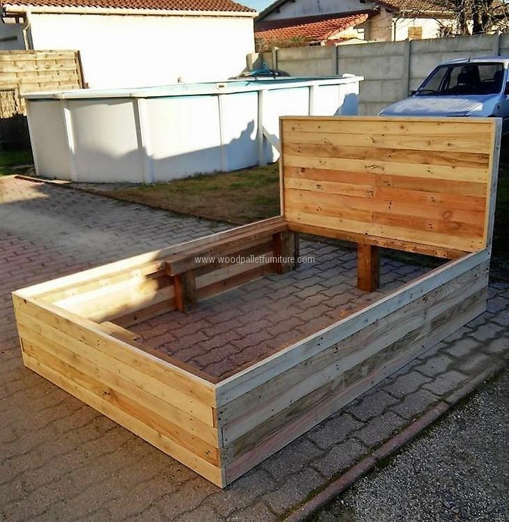 17 best ideas about pallet beds on pinterest diy pallet for Pallet platform