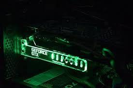 Risultati immagini per Pc Case RGB Led Board Led Graphics Card Holder Decoration with Remote Multi Color