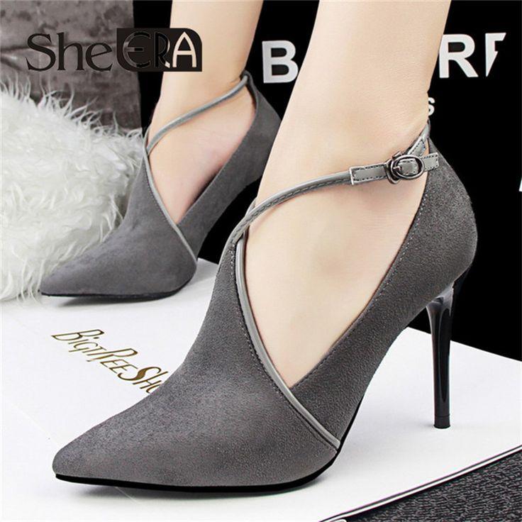 $42.00 (Buy here: https://alitems.com/g/1e8d114494ebda23ff8b16525dc3e8/?i=5&ulp=https%3A%2F%2Fwww.aliexpress.com%2Fitem%2F2016-Europe-retro-sexy-stiletto-high-heels-women-shoes-hollow-deep-mouth-pumps-dames-schoenen-suede%2F32584373471.html ) 2016 Europe Sexy Stiletto High Heels Women Shoes Pumps Dames Schoenen Suede Shoes Woman Scarpe Donna Free Shipping for just $42.00